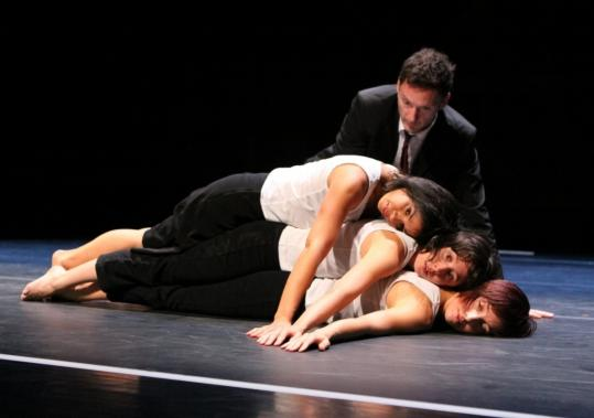 """Groupe Emile Dubois performing """"Des Gens Qui Dansent'' at Jacob's Pillow."""