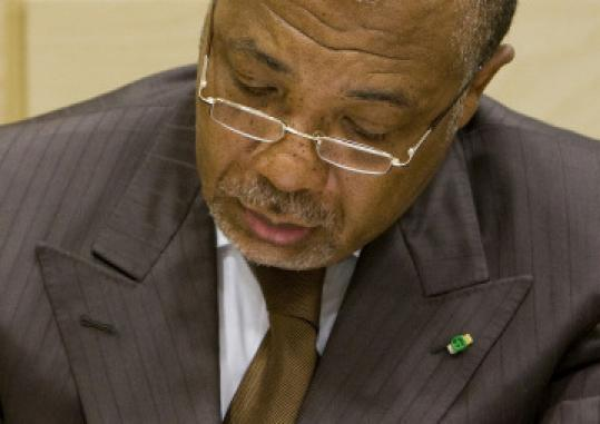 Charles Taylor is now on trial in The Hague for war crimes.