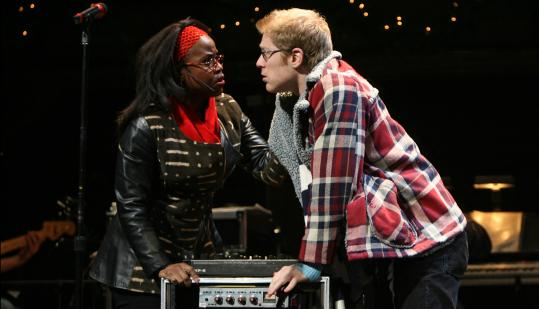 "Haneefah Wood and Anthony Rapp in ""Rent: The Broadway Tour.'' Rapp is reprising the role that made him a star."