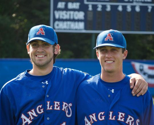 Former Sudbury American Legion players Kevin Scanlan and Matt Perry are teammates again, playing this summer for the Cape Cod Baseball League's Chatham Anglers.