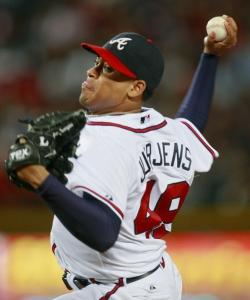 Jair Jurrjens pitched six scoreless innings in the Braves' easy win over the punchless Mets.