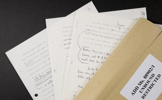 This image released yesterday shows documents from Anthony Blunt, an art adviser to Queen Elizabeth II who spied for the Soviet Union. He died in 1983.