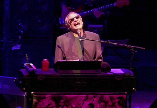 Donald Fagen performs with Steely Dan at the Citi Wang Theatre last night.