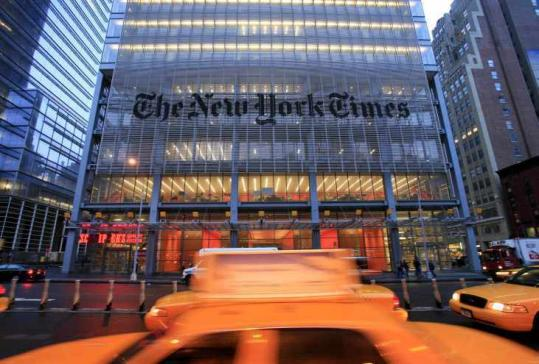 The New York Times Co. said second-quarter profit climbed 85 percent over the same period last year, but ad revenue is off.
