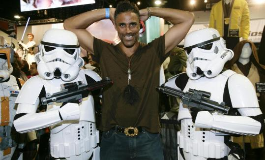 "Above: Rick Fox with storm troopers. Below (from left): ""The Box'' stars Cameron Diaz and James Marsden; panelists Eliza Dushku and Sigourney Weaver."