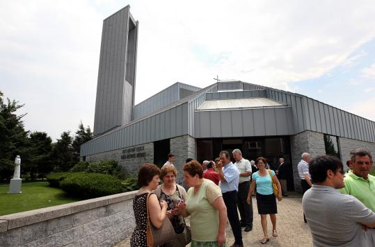 Outside of St. Anthony of Padua in Cambridge, many parishioners expressed their support for the Rev. Pedro Jose Damázio, who was suspended because of allegations of adult sexual misconduct, according to a press release from the Archdiocese of Boston.