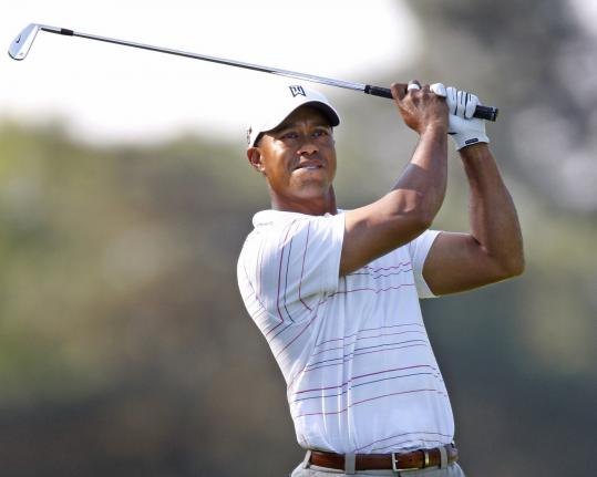Tiger Woods had his best five-hole start as a pro (6-under). He's fourth after two rounds at the Buick Open.