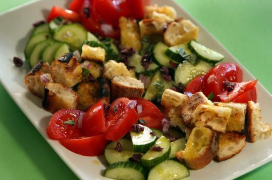 grilled bread salad