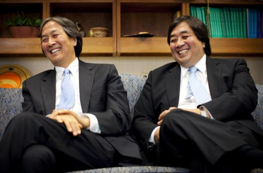 Howard (left) and Harold Koh grew up in Cambridge. They hold high positions in the Obama administration.