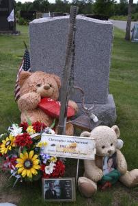 At Melrose Cemetery in Brockton, families adorn their loved ones' gravestones with stuffed animals, toys, flowers, and photos.