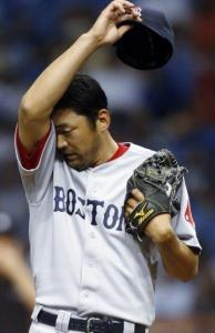 Takashi Saito felt the heat after walking Michel Hernandez to open the 13th.