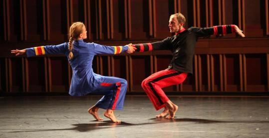 "Mark Morris dancers performed the world premiere of ""Empire Garden'' at Tanglewood on Wednesday."