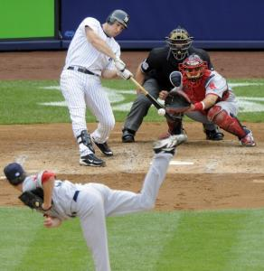 Mark Teixeira got the Yankees rolling with an RBI single off Clay Buchholz in the third inning.