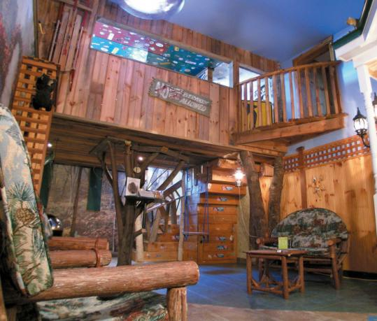 Kids will surely enjoy staying at Adventure Suites in North Conway, complete with an indoor treehouse.