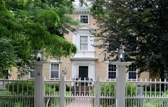 The home of Drew G. Faust, Harvard University president.