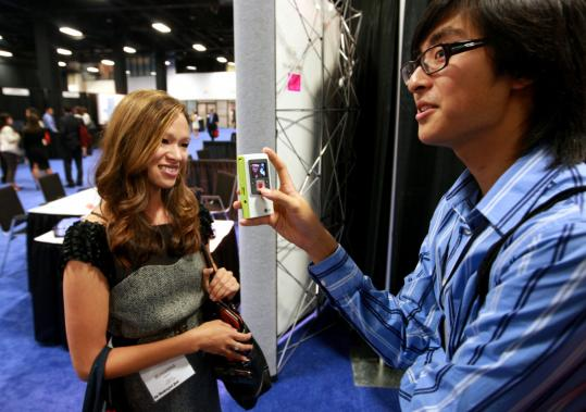 Roxanna Haynes was interviewed at the Asian American Journalists Association convention by Yale University student Patrick Lee, who was making a video on dressing for professional success.