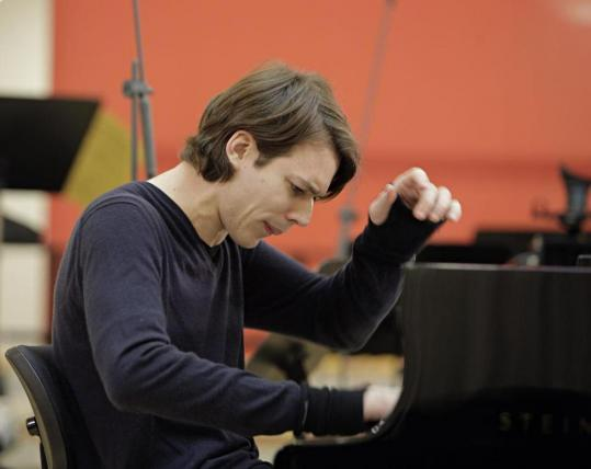 David Fray (pictured in the documentary 'Swing, Sing & Think' by Bruno Monsaingeon) performs tonight at Tanglewood.