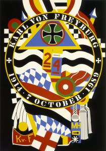 Robert Indiana's 'The Hartley Elegies' were reworkings of Marsden Hartley's 'Portrait of a German Officer.'