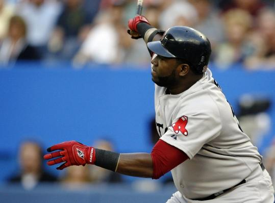 David Ortiz continued to swing a hot bat last night, connecting off Roy Halladay for a solo homer in the second inning that got the Red Sox on the board.