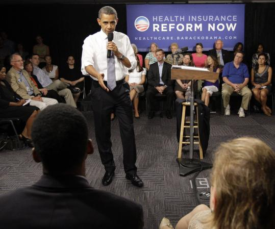 President Obama talked about his plan yesterday at the Organizing for American National Health Care forum in Washington.