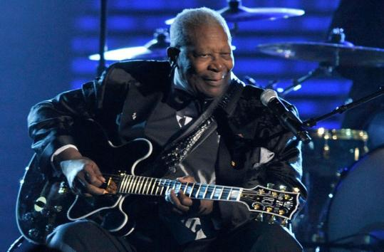B.B. King (pictured at the Grammy Awards in February) played a 90-minute set at the South Shore Music Circus Saturday.