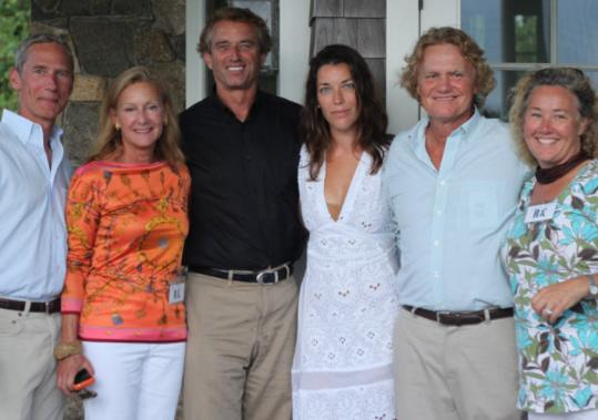 From left: John and Karen Klopp, Robert F. Kennedy Jr., Sarah and Robert Nixon, and Tamara Buchwald.