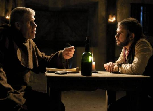 Dominic Monaghan (right, with Ron Perlman) plays a grave robber in &#8220;I Sell the Dead.&#8217;&#8217;
