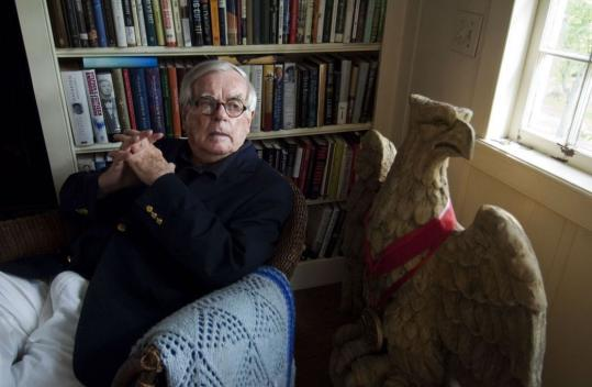 Dominick Dunne, shown in his Hadlyme, Conn., home, was as successful as a journalist as he was as a novelist and spent many of his later years in courtrooms covering high-profile trials.