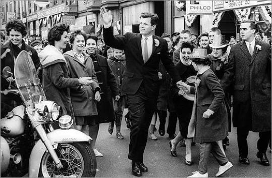 Senator Edward M. Kennedy marched in the St. Patrick's Day parade March 17, 1962.
