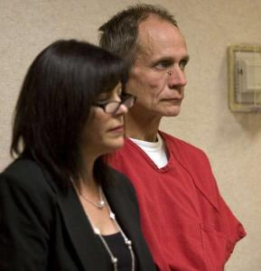 Phillip Greg Garrido, with lawyer Susan Gellman, was arraigned Friday in El Dorado Superior Court in Placerville.