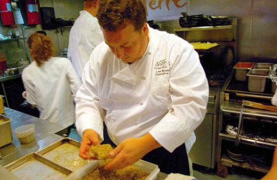 Lee Skawinski, chef at Cinque Terre, uses mostly local ingredients to fill his restaurant's menu.