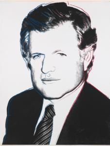 A celebrated Andy Warhol silkscreen of Senator Edward M. Kennedy.