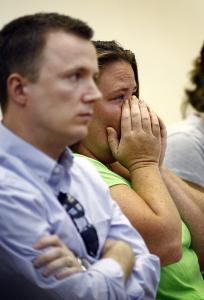 Members of Joseph Beatty 's family in Quincy District Court yesterday watched the arraignment.