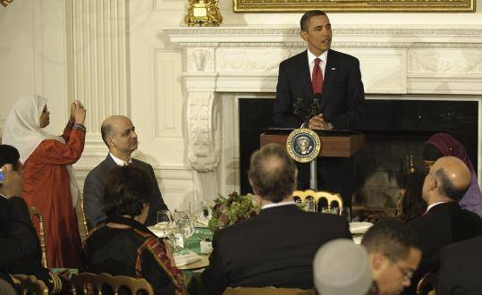 President Obama addressed his guests at a dinner last night at the White House to celebrate the Muslim holy days of Ramadan and highlight the contributions of American Muslims.