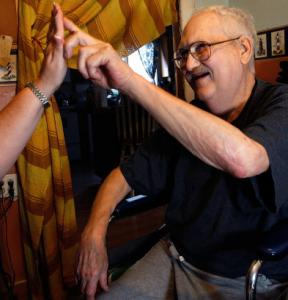 Terminally ill with cancer, Ed Pratt worked with a hospice nurse at his home in Plymouth.