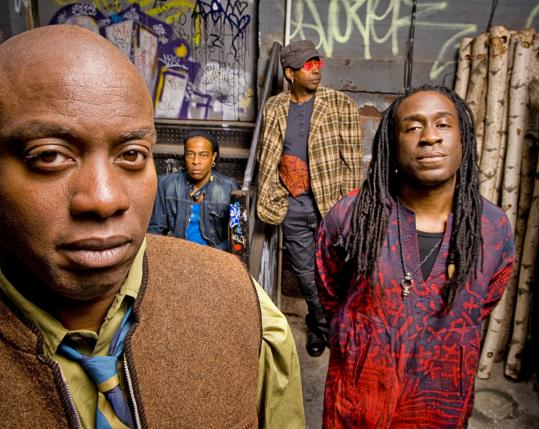 BILL BERNSTEINThe four members of Living Colour - (from left) Corey Glover, Doug Wimbish, Vernon Reid, and Will Calhoun - have been together from the start.