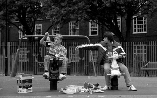 "Thomas Turgoose (left) and Piotr Jagiello in Shane Meadows's ""Somers Town.''"