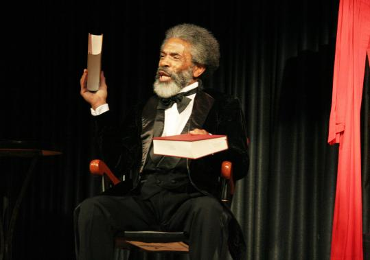 "LIA CHANGAndre De Shields as Frederick Douglass, one of three roles he plays in ""Mine Eyes Have Seen the Glory: From Douglass to Deliverance'' at the Yard on Martha's Vineyard."