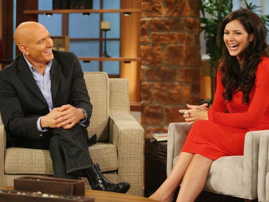 Dr. Keith Ablow talks with 'American Idol' runner-up KatharineMcPhee in 2006 during a taping of his syndicated talk show, which lasted one season.