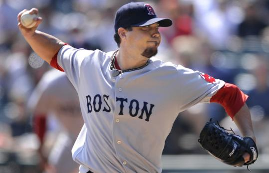 Josh Beckett gave up three runs - but no homers - yet was still tagged with the loss.