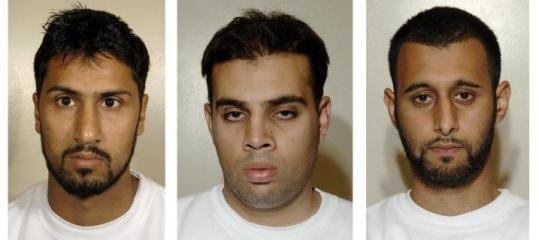 Abdullah Ahmed Ali, Assad Sarwar, and Tanvir Hussain were convicted yesterday in London of plotting to blow up trans-Atlantic flights with liquid explosives.