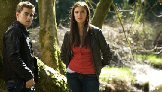 "Paul Wesley and Nina Dobrev star in ""The Vampire Diaries.''"