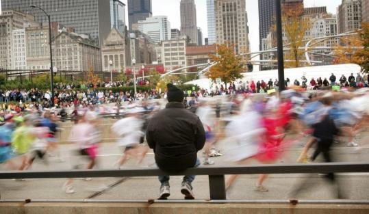 The Chicago Marathon often hits its limit of 45,000 runners six months before race day.