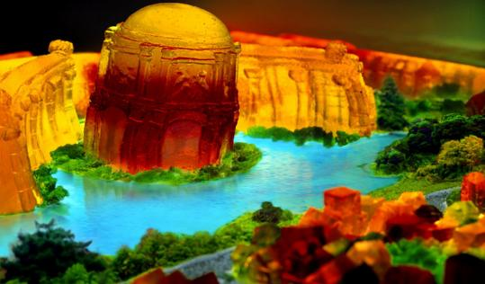 'Palace of Fine Arts, 2006' by Liz Hickok is a work made of Jell-O, and is part of the exhibit 'You Are What You Eat' coming to Mass MoCA in North Adams.