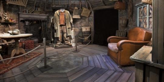 In the upcoming Museum of Science exhibit, Harry Potter fans will get an up-close look at the film set of Hagrid's hut.