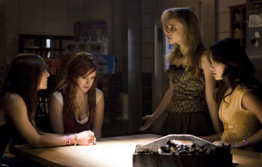 "From left: Briana Evigan, Rumer Willis, Leah Piper, and Jamie Chung star in ""Sorority Row.''"