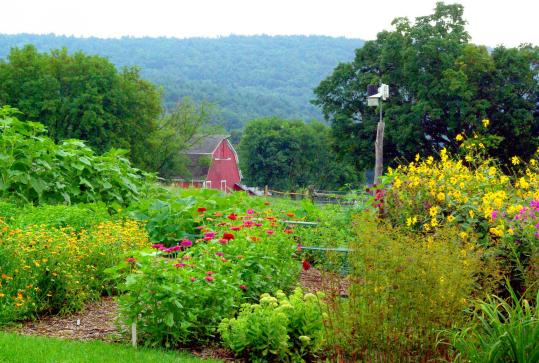 It's tough to beat the bucolic views from the vegetable garden at the Inn at Valley Farms in Walpole, N.H. The town's Main Street boasts the L.A. Burdick Walpole Cafe, Restaurant & Chocolate Shop, with its brasserie menu and exquisite confections.