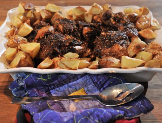 LoKo cofounder Marion Menzin's roast kosher chicken.
