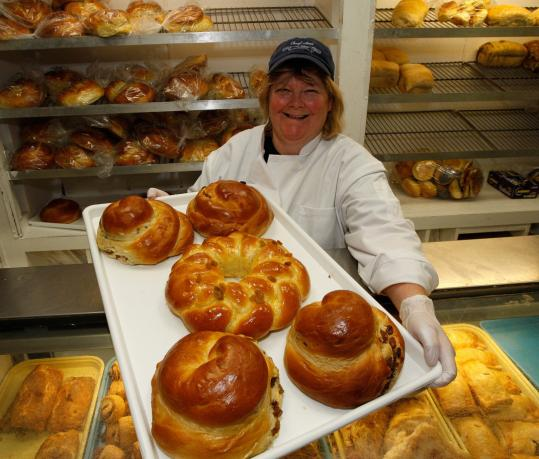 Ann Moore of Cheryl Ann's Bakery in Brookline bakes 18 hours a day to make loaves of traditional challah for the Jewish New Year.