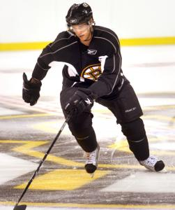 Rehabbing from hip surgery, David Krejci skated on his own and with teammates for a total of 55 minutes at TD Garden.